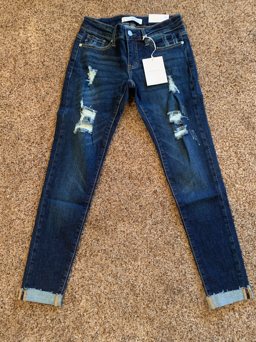 Kan Can distressed cropped jeans