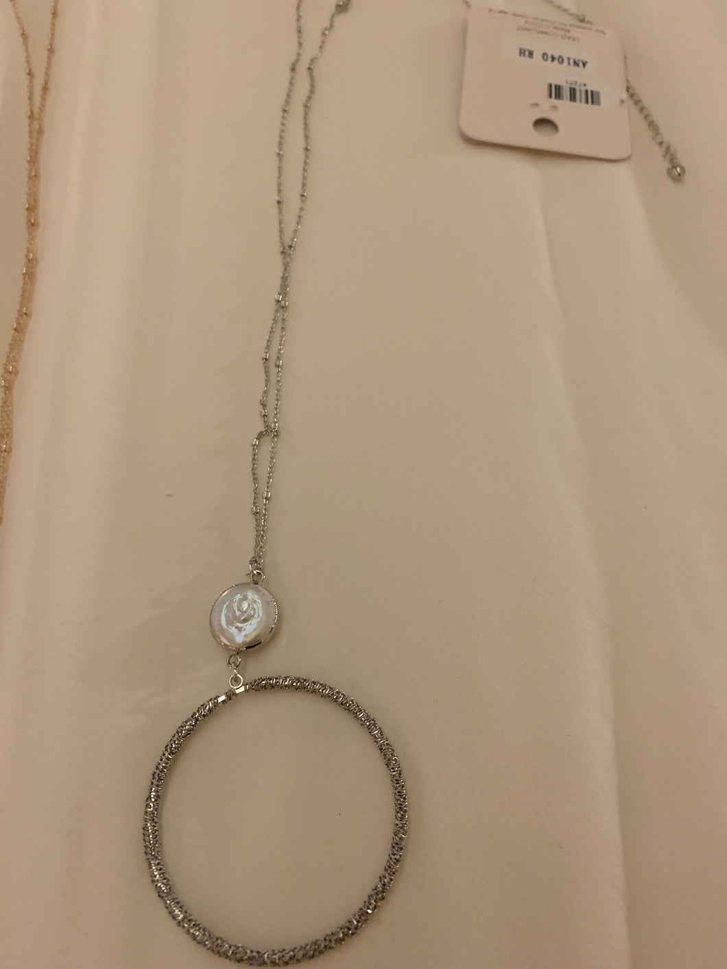 Long chain circle necklace