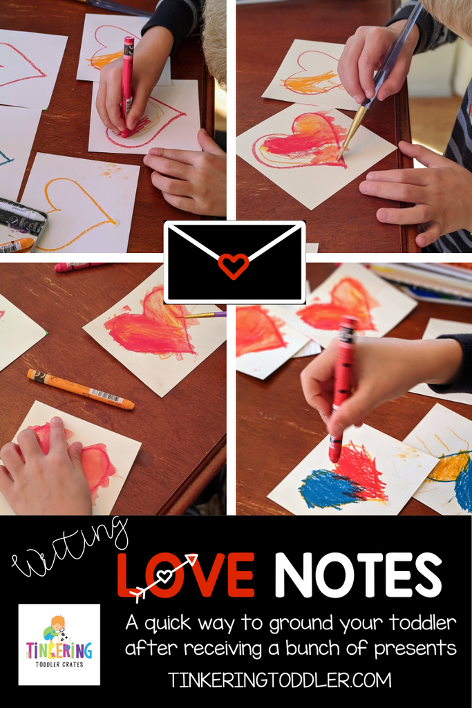 Writing Love Notes with Toddlers
