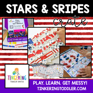 Stars and Stripes Crate ships June 4th, 2020 from Tinkering Toddler Crates LLC