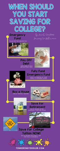 When to save for college when your child is a toddler
