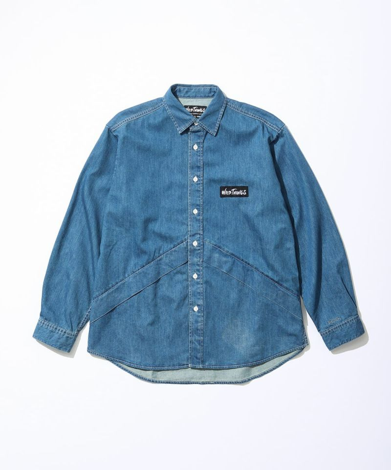 Wild Things Sheltech Denali Shirt Denim Washed