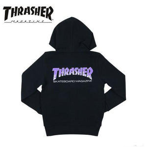 Thrasher Japan Kids BBQ Zip Up Hood Black