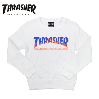 Thrasher Kids Japan Flame Crewneck White