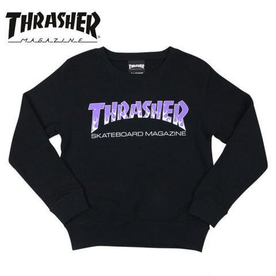 Thrasher Kids Japan Flame Crewneck Black