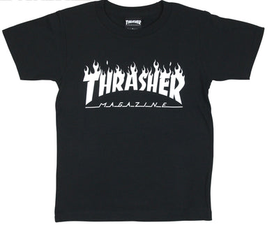 Thrasher Kids Flame Logo S/S Tee Black