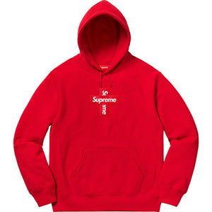 Supreme Cross Box Logo Hooded Sweater Red