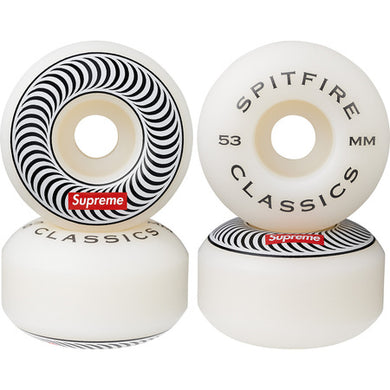 Supreme Spitfire Classic Wheels (Set Of 4) White 53mm