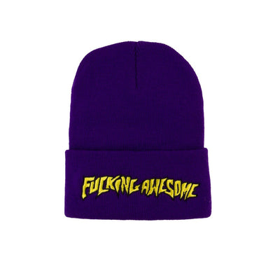 Fucking Awesome Outline Logo Beanie - Purple