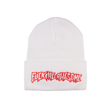 Fucking Awesome Outline Logo Beanie - White