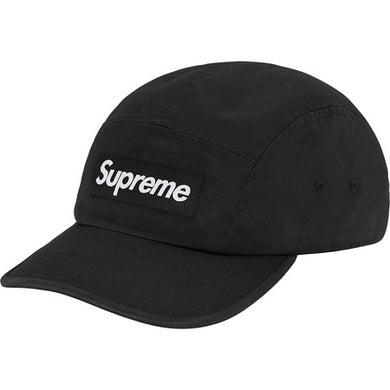Supreme Washed Chino Twill Camp Cap (FW20) Black