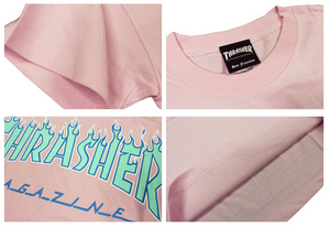 Thrasher Flame 3C S/S Tee Pink
