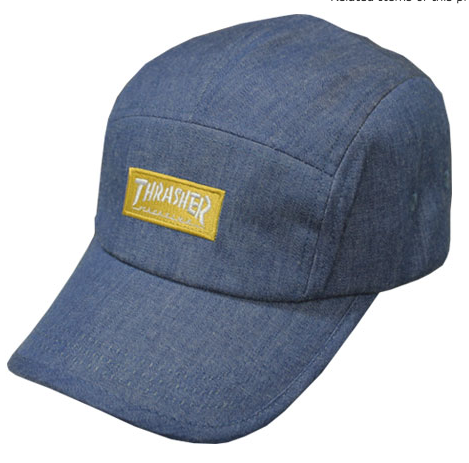 Thrasher Dungaree Jet Cap Navy Denim