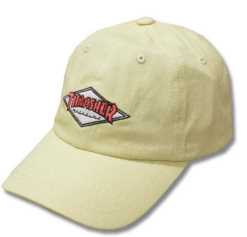 Thrasher Diamond Sport Dad Cap White