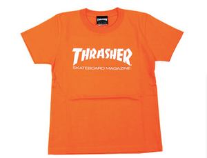 Thrasher Kids Mag Logo S/S Tee Orange/White