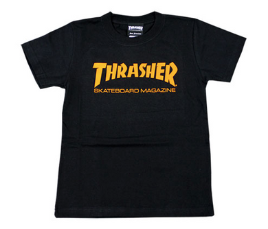 Thrasher Kids Mag Logo S/S Tee Black/Orange