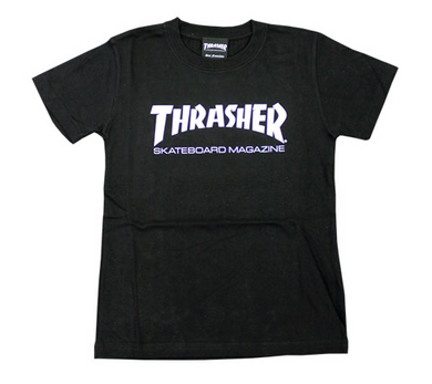 Thrasher Kids Mag Logo S/S Tee Black/White