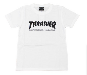 Thrasher Kids Mag Logo S/S Tee White / Black