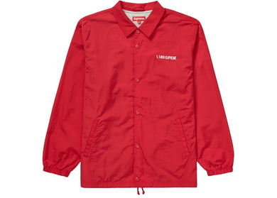 Supreme 1-800 Coaches Jacket Red