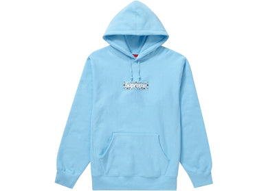 Supreme Bandana Box Logo Hooded Sweatshirt Blue