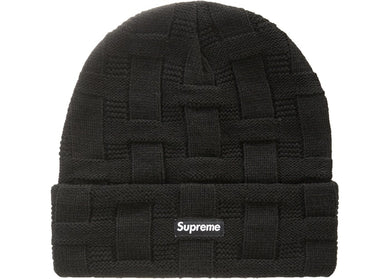 Supreme Basket Weave Beanie Black