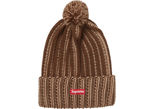 Supreme Contrast Stripe Beanie Brown