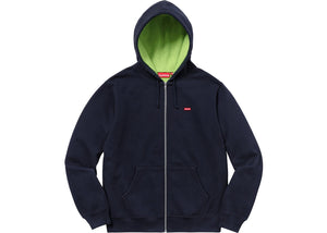 Supreme Contrast Zip Up Hooded Sweatshirt Navy