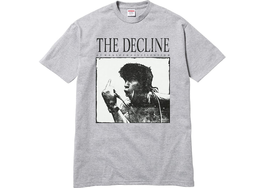 Supreme Decline of Western Civilization Tee Grey