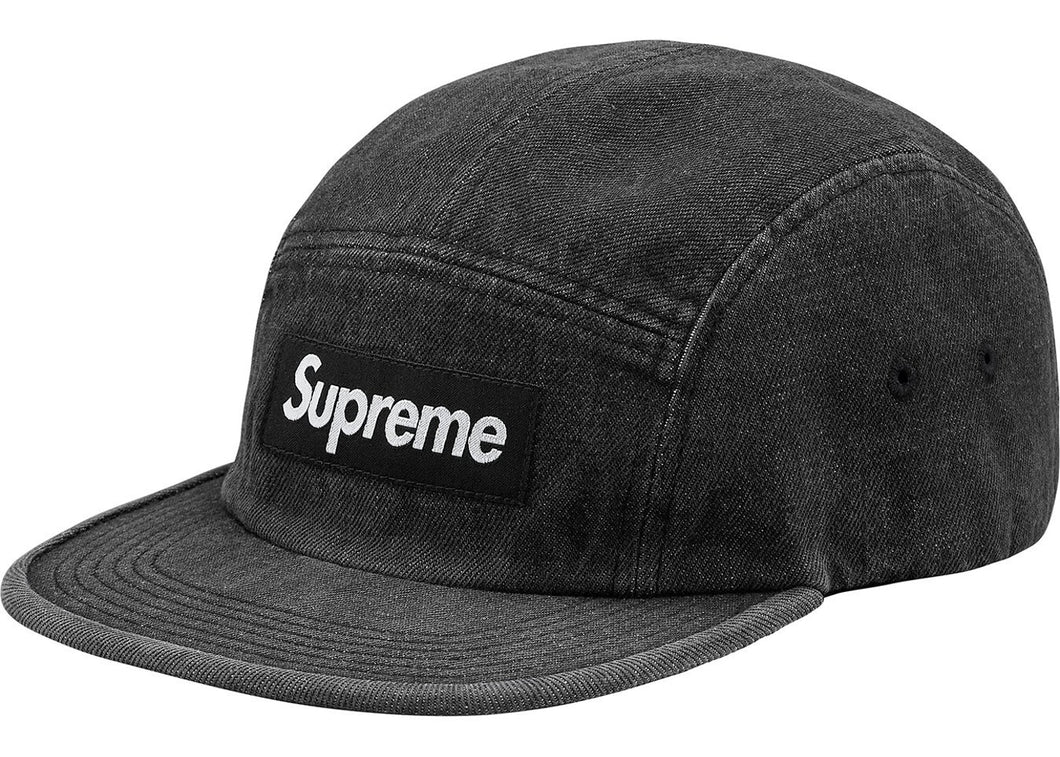 Supreme Denim Camp Cap Black