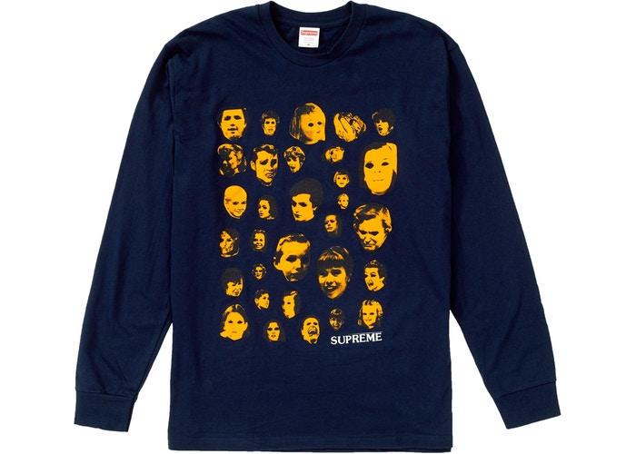 Supreme Faces L/S Tee Navy