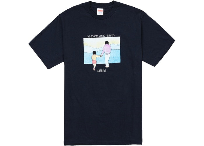 Supreme Heaven And Earth Tee Navy