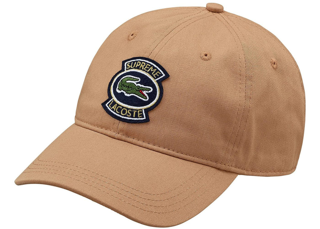Supreme LACOSTE Twill 6-Panel Light Brown