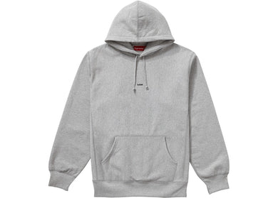 Supreme Micro Logo Hooded Sweatshirt Grey