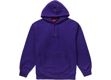 Supreme Micro Logo Hooded Sweatshirt Purple