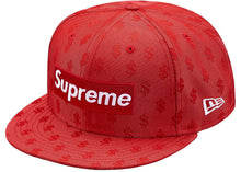 Supreme Monogram Box Logo New Era Red