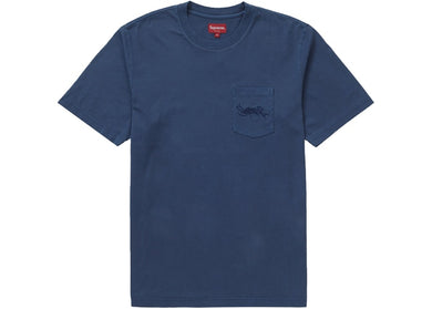 Supreme Overdyed Pocket Tee Navy
