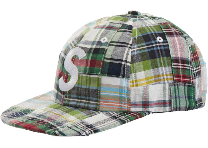 Patchwork Madras S Logo 6 Panel (Green)
