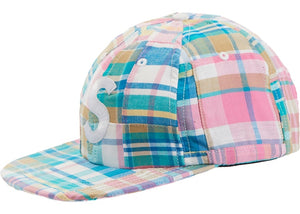 Patchwork Madras S Logo 6 Panel (Pink)