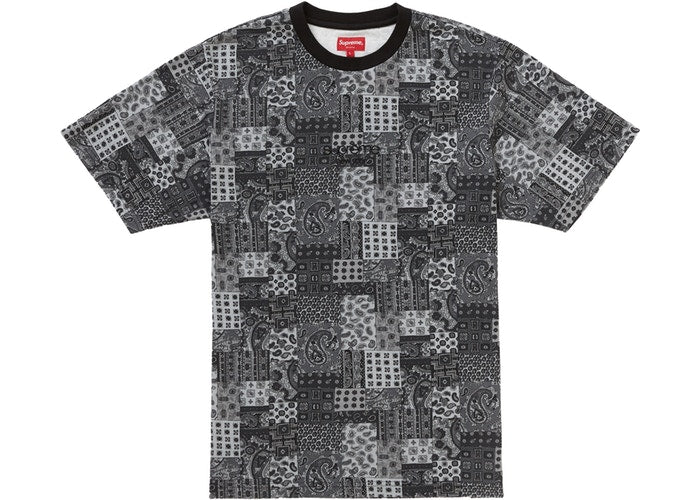 Supreme Patchwork Paisley S/S Top Black