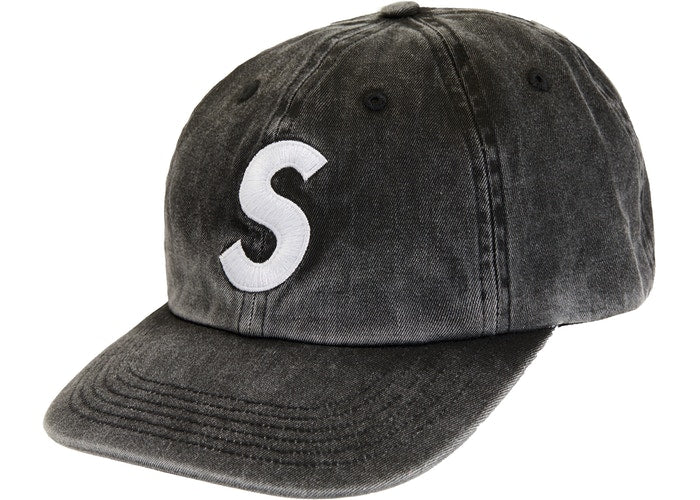 Supreme Pigment Print S Logo 6-Panel Black