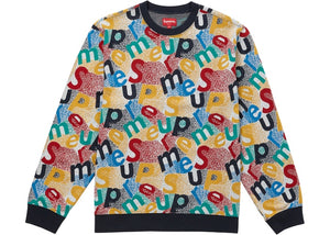 Supreme Scatter Text Crewneck Navy