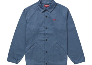 Supreme Snap Front Jacquard Logos Twill Jacket Blue