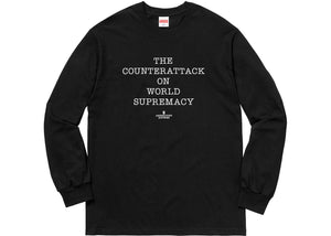 Supreme UNDERCOVER/Public Enemy Counterattack L/S Tee Black
