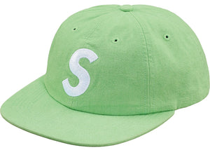 Supreme Washed Chambray S Logo 6-Panel Green