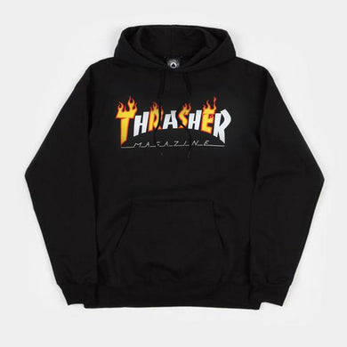 Thrasher Flame Mag Hoodies - Black