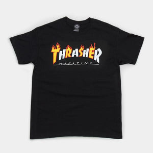 Thrasher Flame Mag Tee - Black