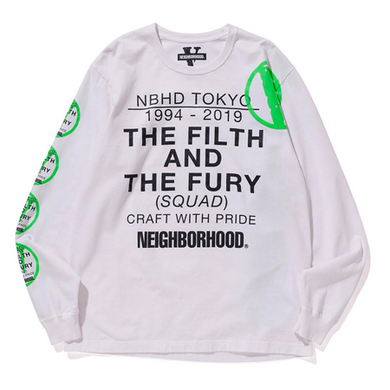 NEIGHBORHOOD X VLONE L/S Tee (White)