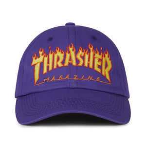 Thrasher Flame Old Timer Hat Purple