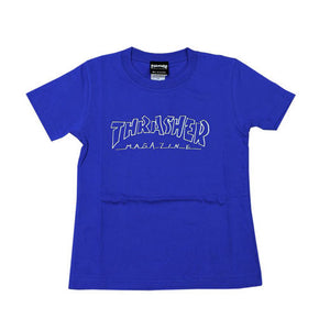 Thrasher Kids Mag Outline S/S Tee Royal