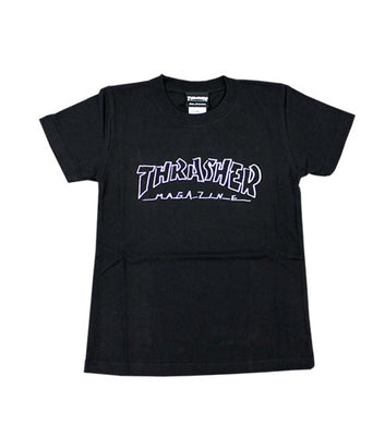 Thrasher Kids Mag Outline S/S Tee Black